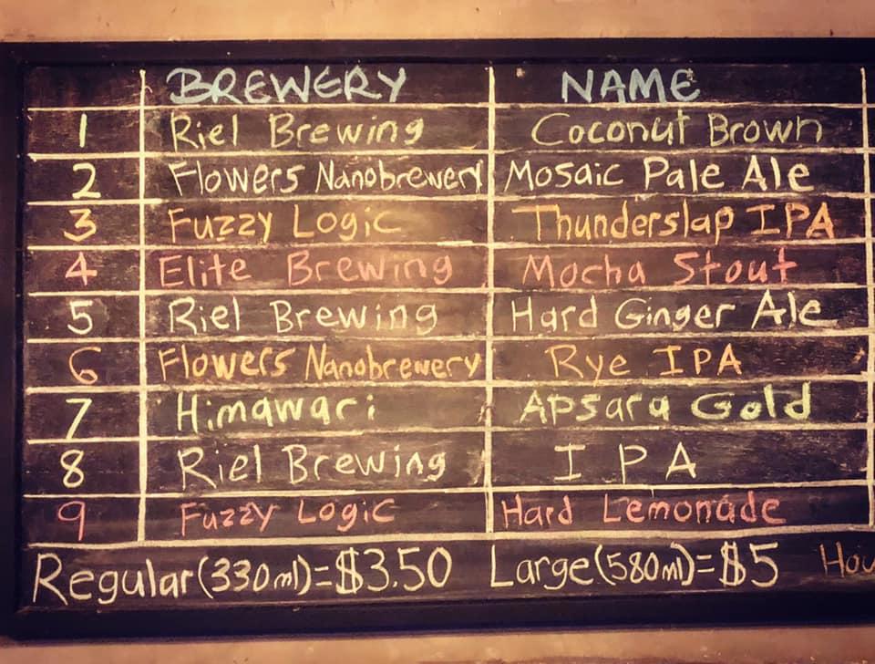 Board of craft beer Embargo